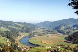 Paisaje en  Corias de Pravia al valle dela Vega de Quinzanas