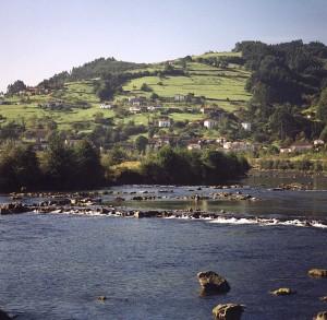 Rio Narcea  a su paso por Corias